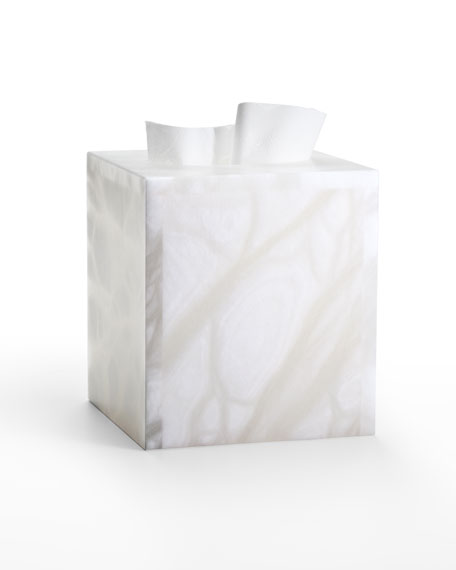 Alisa Alabaster Tissue Cover, White