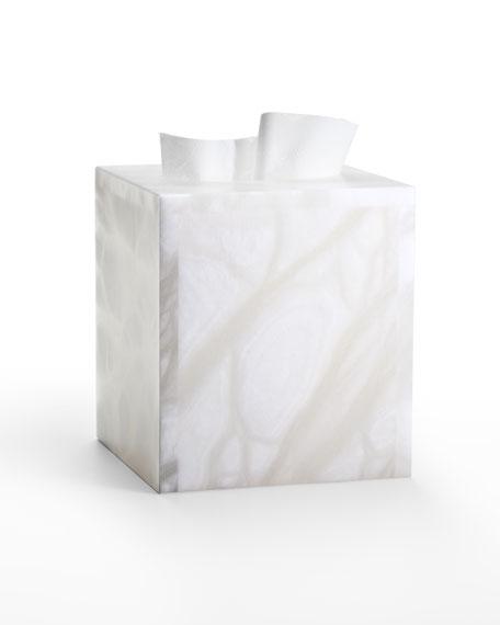 Alisa Alabaster Tissue Cover, White