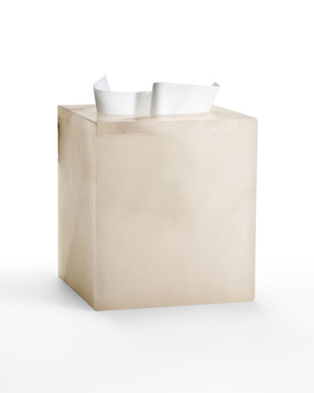 Alisa Alabaster Tissue Cover, Cream