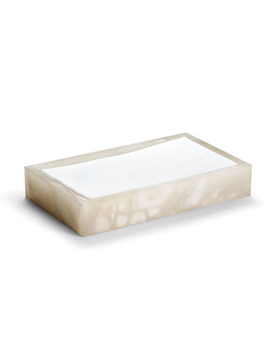 Alisa Alabaster Towel Tray, Cream