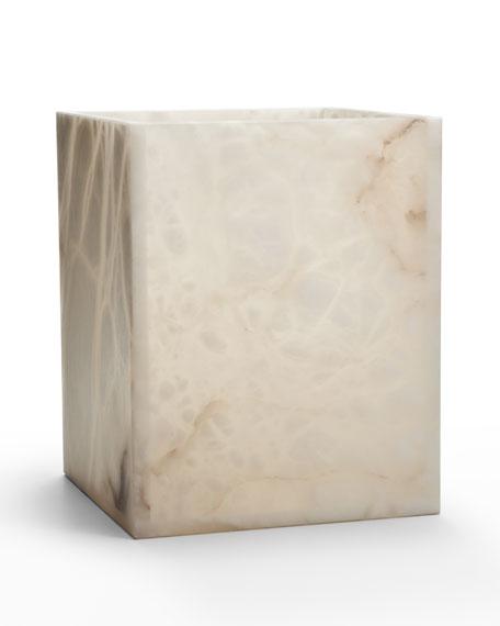 Labrazel Alisa Alabaster Wastebasket, Cream