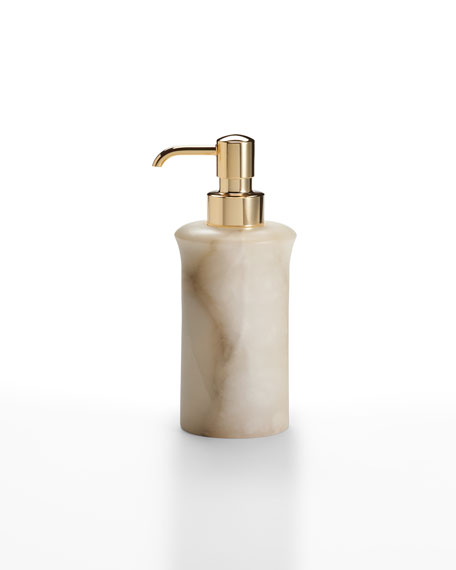 Alisa Alabaster Pump Dispenser, Cream