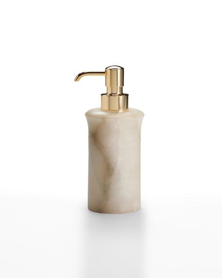 Alisa Alabaster Pump Dispenser, Cream