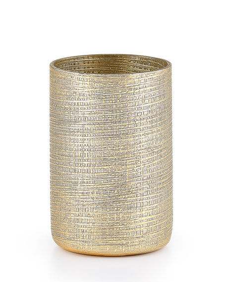 Woven Metallic Brush Holder