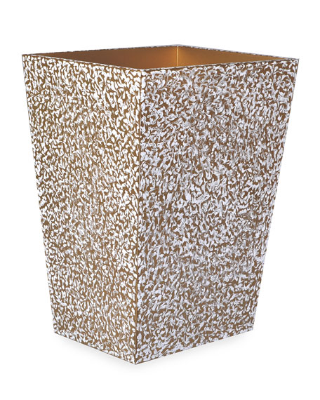 Mike & Ally Blizzard Straight Wastebasket with Liner