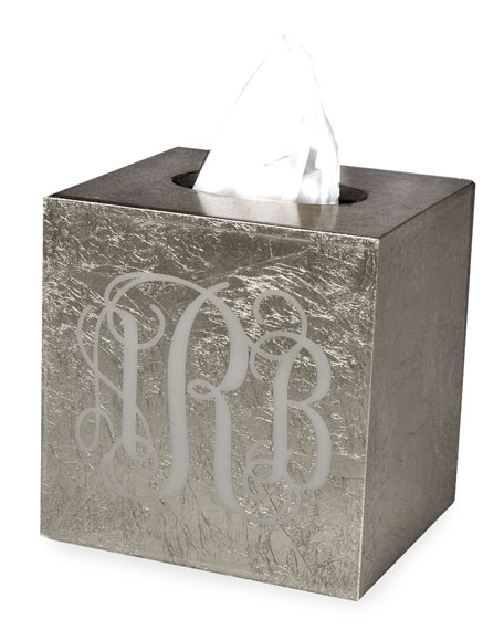 Mike & Ally Eos Monogram Boutique Tissue Box,