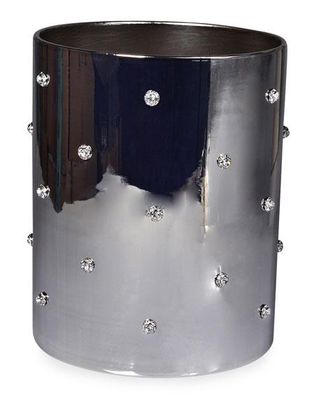 Nova Jeweled Round Wastebasket