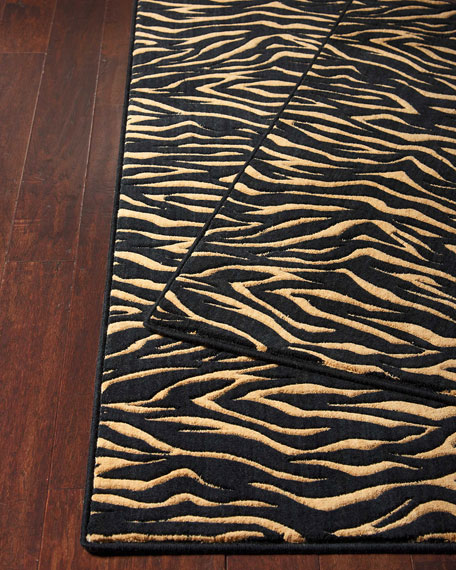 Midnight Tiger Mat, 3' x 5'