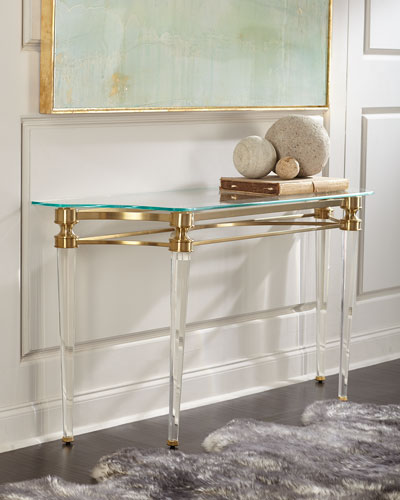 Martha Acrylic Console Table Quick Look. Ambella