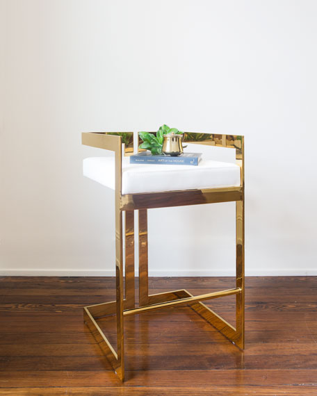 Adriano Brass Counter Stool