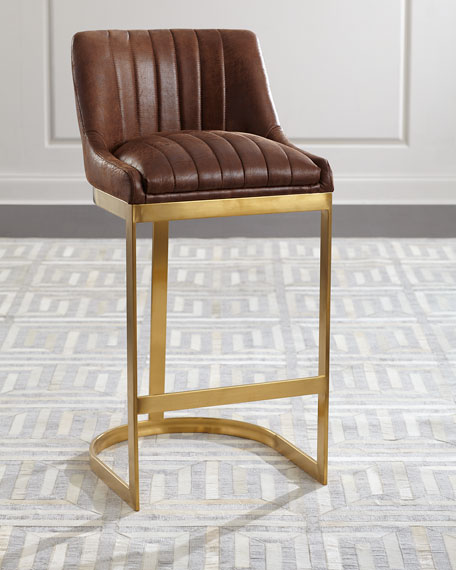 Pepperton Tufted Swivel Counter Stool In 2019: Taya Channel Tufted Bar Stool And Matching Items