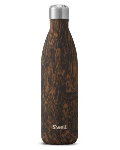 Wenge Wood Faux-Bois 25-oz. Water Bottle