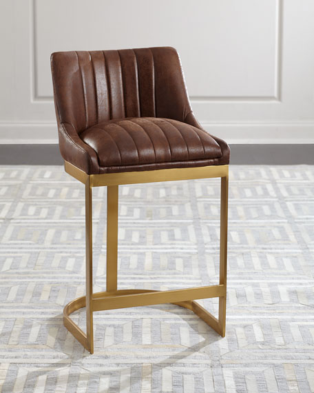 Taya Channel Tufted Counter Stool