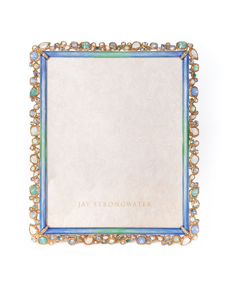 Jay Strongwater Oceana Bejeweled Picture Frame, 8
