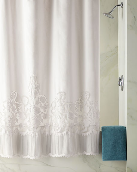 Caprice Shower Curtain, Cloud