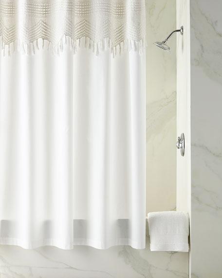 Pom At Home Vintage Crochet Shower Curtain