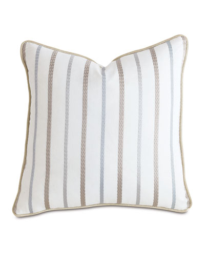 Watermill Taupe Decorative Pillow  22Sq.