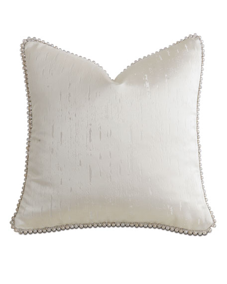 "Watermill Taupe Decorative Pillow, 18""Sq."