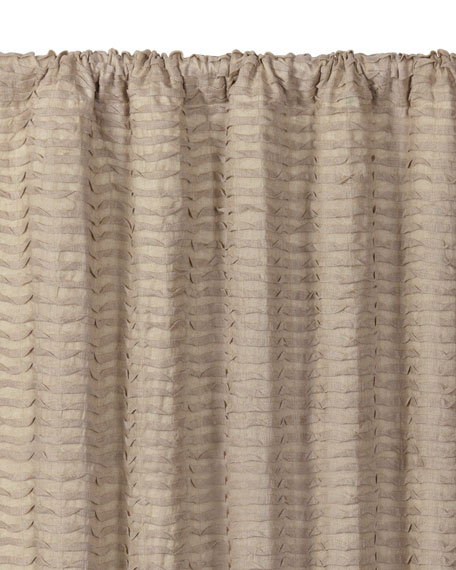 "Yearling Flax Rod Pocket Curtain Panel, 108""L"