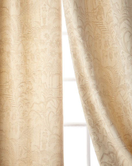 "Chinese Garden Curtain, 108""L"