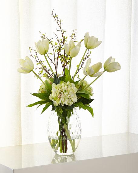 NDI Tulip Hydrangea Faux Floral Arrangement
