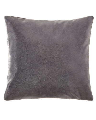 Clear Lacque Printed Leather Decorative Pillow