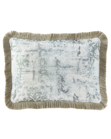 Cristabella Oblong Pillow with Brush Fringe