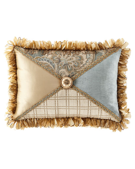 Willette Patched Pillow with Fringe