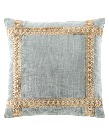 Willette Velvet Boutique Pillow with Braid