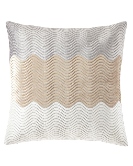 "Velvet Wave Pillow, 22""Sq."
