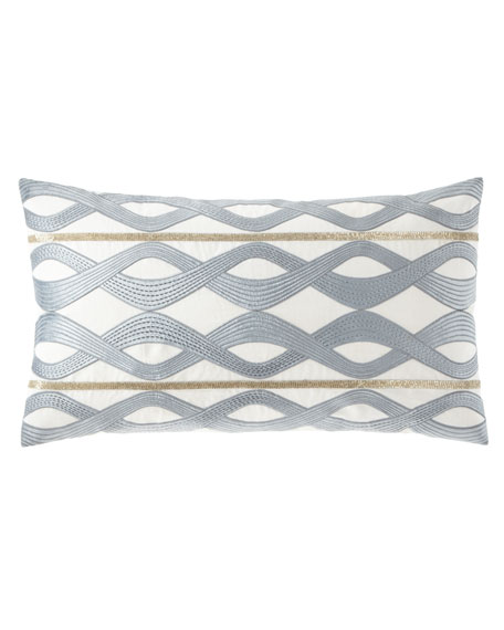 Linen-Blend Decorative Pillow