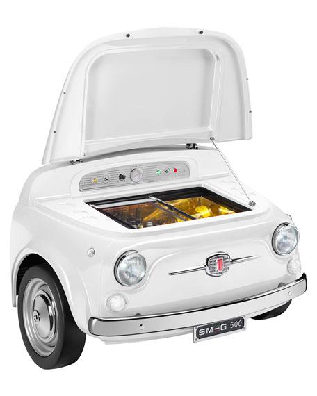 FIAT X SMEG White Electric Cooler