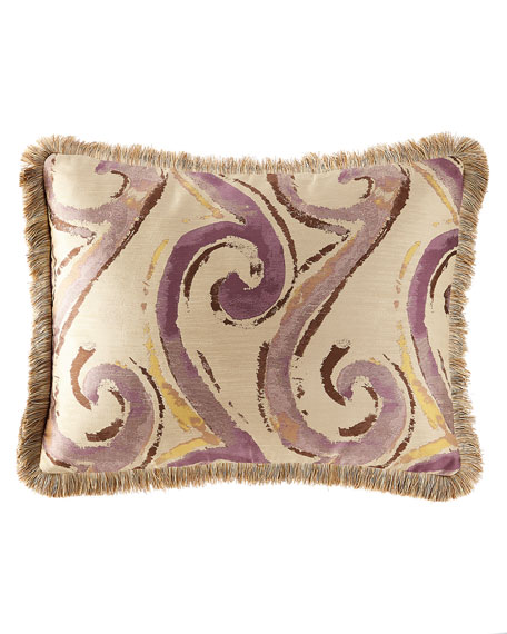 Wisteria Scroll Standard Sham with Fringe