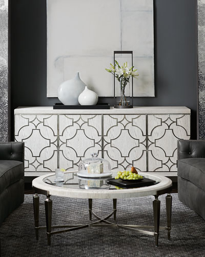 Captivating Damonica Metal Overlay Entertainment Console Quick Look. Bernhardt
