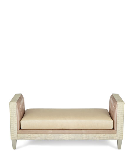 Justus Leather Bench