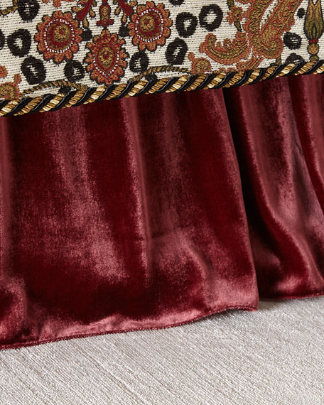 Dian Austin Couture Home Maximus Medallion Adjustable Velvet