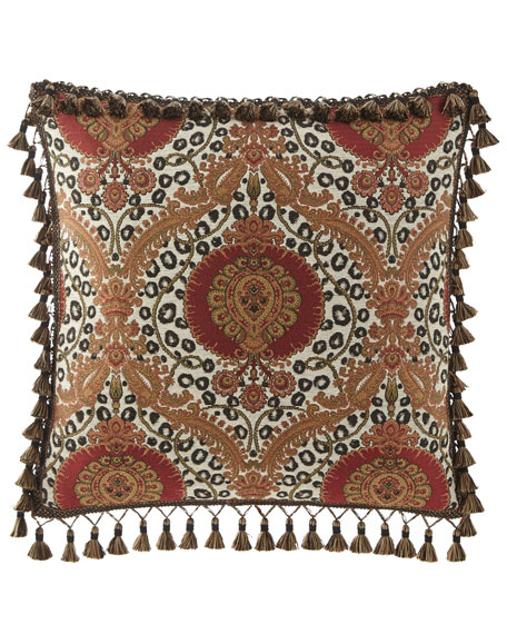 Maximus Medallion European Sham with Tassels