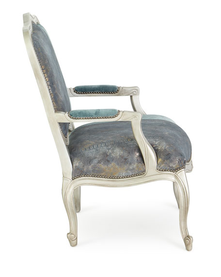 Lily Leather Bergere Chair