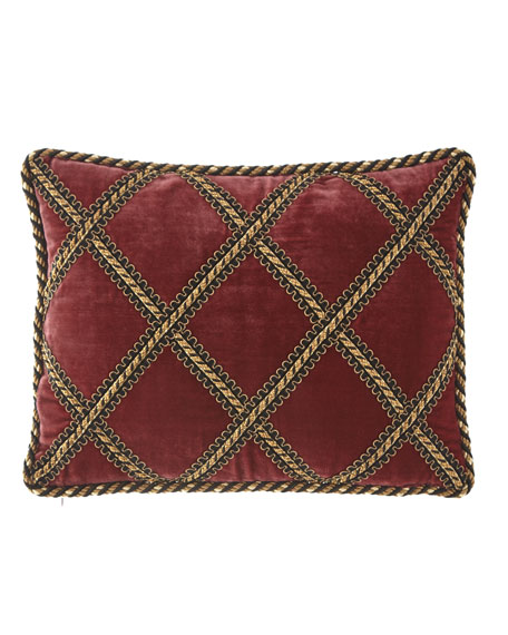 Maximus Velvet Pillow with Gimp