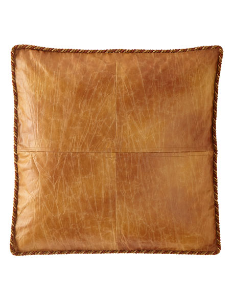 Hamaden Boxed Faux-Leather European Sham