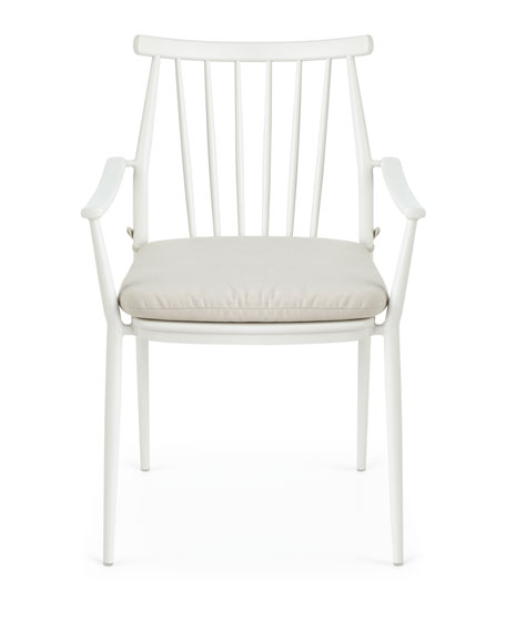Pair of Darrow Arm Chairs, White