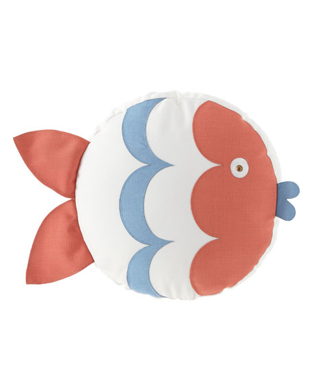 Celerie Kemble Kissing Fish Tambourine Right Pillow