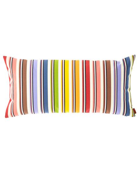 """Rainbow Cushion, 12"""" x 24"""""""