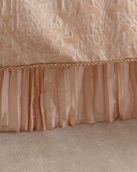 Aurora Pleated Silk Queen Dust Skirt