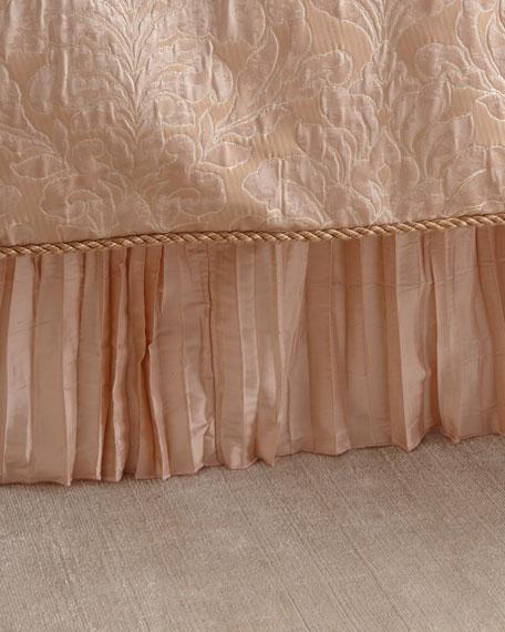 Aurora Pleated Silk Queen Dust Skirt