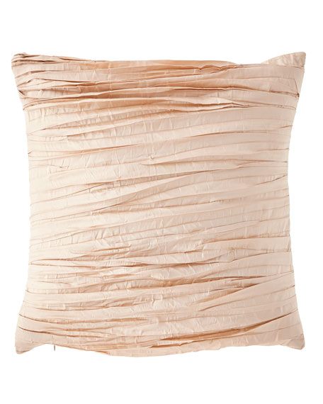 "Aurora Pleated Pillow, 20""Sq."