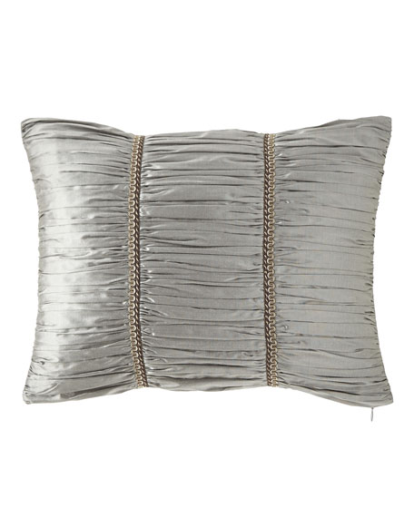 "Rockwell Silk Boudoir Pillow, 14"" x 20"""