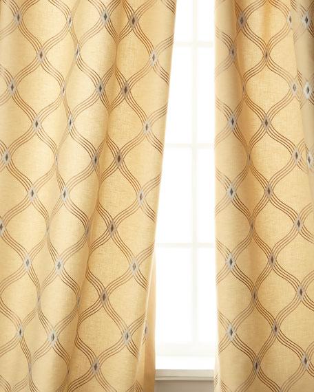 "Brilliant Linen/Cotton Drape, 96""L"