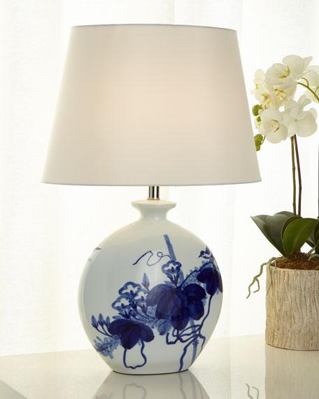 Bird Lamp, Blue/White