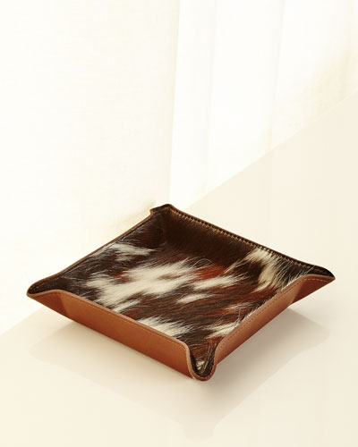 Calf Hair Valet Tray, Brown Pattern